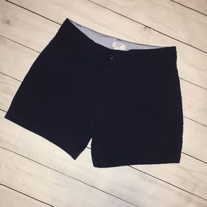 Crown and Ivy Textured Navy Blue Caroline Shorts